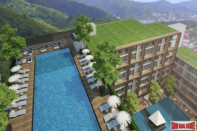 One-two bedroom modern condominiums with communal pool and sea views