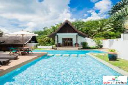 Spacious four-bedroom villa with private pool and tropical garden nearest beach Natai beach