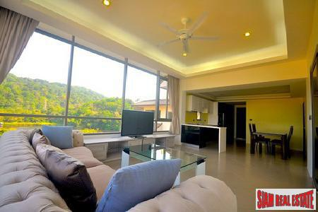 Two-bedroom modern Kathu apartment with golf course and lake views