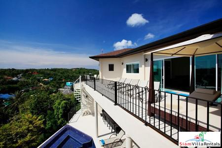 Luxurious hillside property featuring nine-bedrooms and excellent facilities , Nai Harn, Phuket