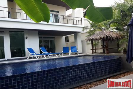Four bedroom, five bathroom modern private pool villa near the beach