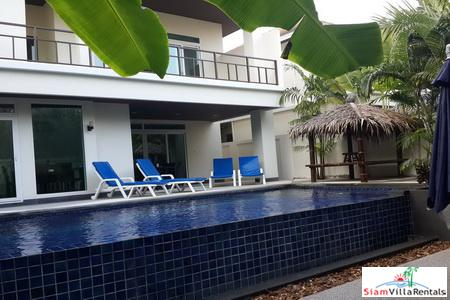 Four-bedroom villa with modern decor and private swimming pool