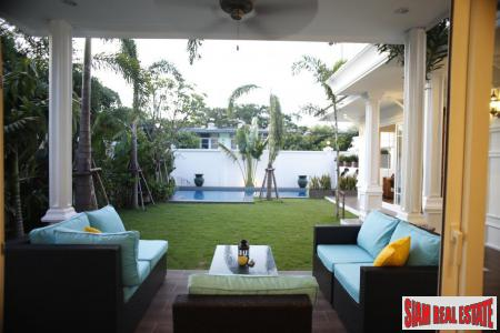 New, Colonial-Style Luxury House with Pool and Garden Near Phra Kanong