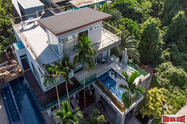 Five Bedroom Modern Ocean-View Pool Villa in Rawai/Sai Yuan