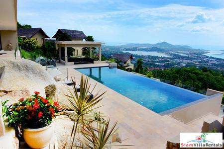 Panoramic Sea-View 5-Bedroom Pool Vila in Chaweng Noi
