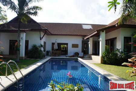 Tropical Balinese Three-Bedroom House for Sale in Rawai