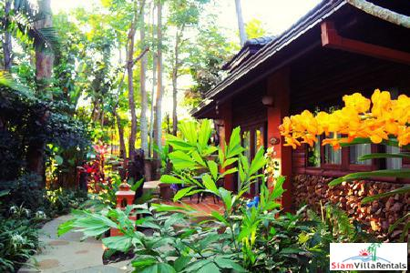 Rustic and Elegant One-Bedroom Villa for Rent in Maenam