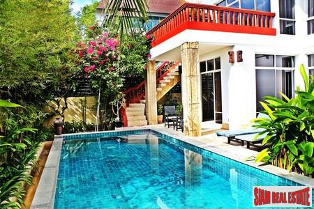 200 Meters from Beach in Na Jomtien - Luxurious Thai Bali Pool Villa