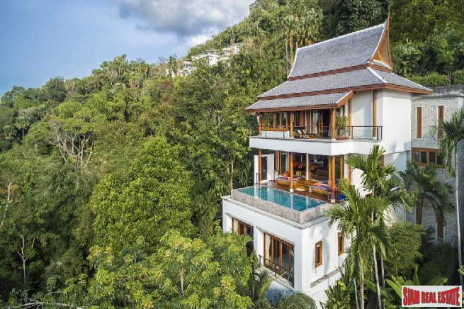 One of a Kind Luxurious Ocean View Villa Overlooking World Famous Surin Beach