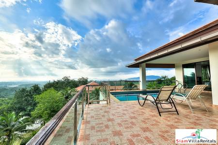 Five Bedroom Sea View Pool Villa For Rent in Chalong Near Big Buddha