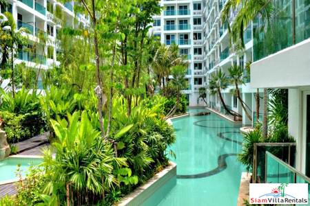 Brand New 2 BRs Condo with Super Large 3 Levels Swimming Pool in Jomtien Area - Close to The Beach
