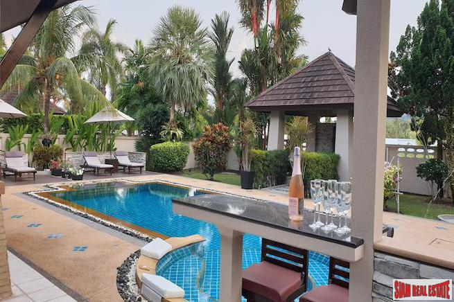 Four Bedroom Balinese Style Pool Villa for Sale on the East Coast of Phuket