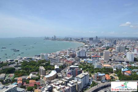 Top Floor 2 Bedroom Unixx Condo With Stunning View Over Complete Pattaya Bay!