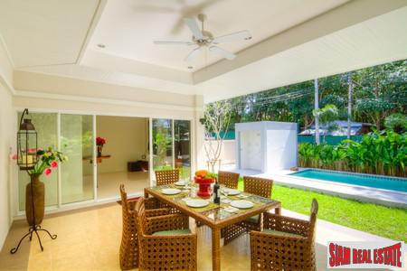 Outdoor Garden Living in this Rawai Pool Villa