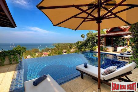 Sea Views from this Luxurious Thai Inspired Pool Villa in Surin, Phuket