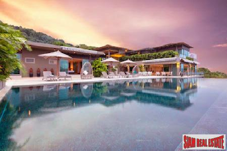 Luxury Seven Bedroom Pool Villa with Sweeping Views of the Sea in Layan, Phuket