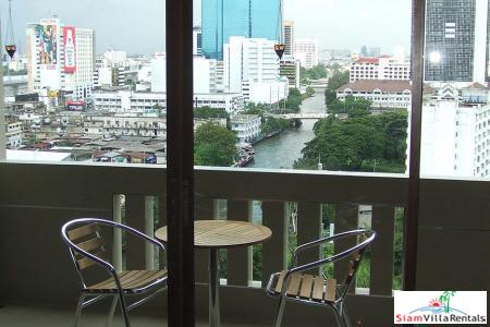JC Tower | Two Bedroom for Rent with Unique View and Location on Klong Waterway, Thong Lo