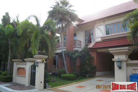 Tudor-style Two Storey House on a 121 sqw Plot in Kaset-Navamin, Bangkok