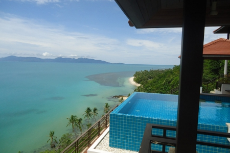 Exceptional Panoramic Views from this Ocean Front Villa On 2 Rai at Ban Tai, Maenam Beach