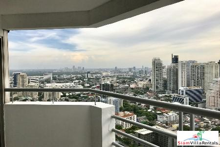 Beautiful City Views from This Luxury Furnished Three Bedroom Apartment in Phrom Phong, Bangkok