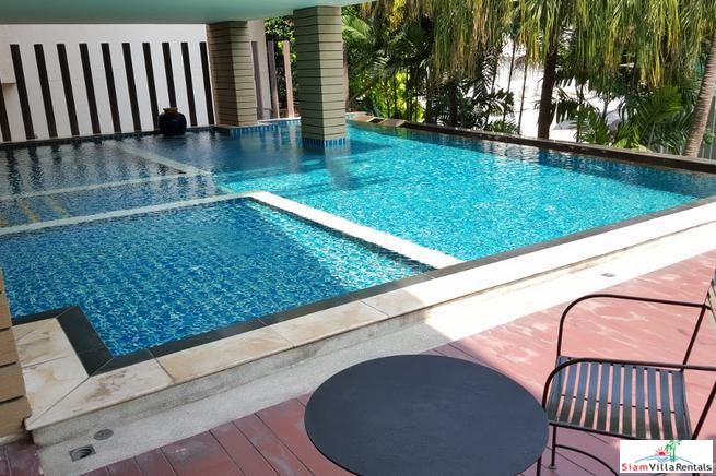 Newly Renovated & Park Like Views from this One Bedroom For Rent Near Phrom Phong, Bangkok