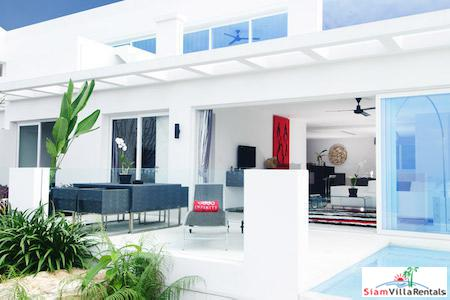 Two Bedroom Corner Garden Penthouse with Sea Views in Bang Po, Koh Samui