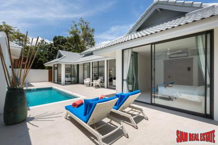 New 2-4 Bed Private Pool Villas in Secure Estate, Samui
