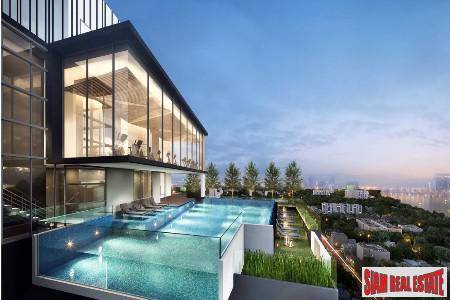 City & Garden Views from this Duplex-Style Condo near Asoke, Bangkok