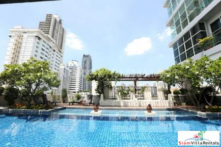 Beautiful Pool Views from this Luxury Two Bedroom Condo near Nana, Bangkok