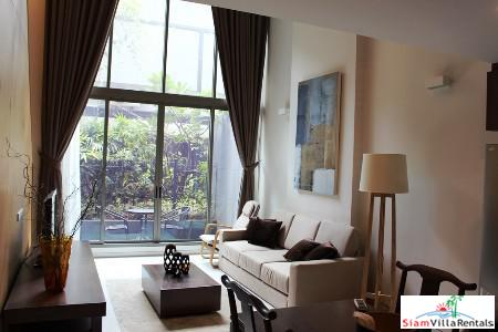 One Bedroom Loft Style Duplex with Garden Views for Rent in Khlong Toei, Bangkok