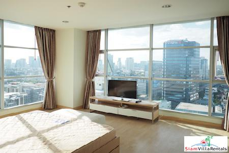 Views and More Views from this Two Bedroom on the 19th Floor in Huai Khwang, Bangkok