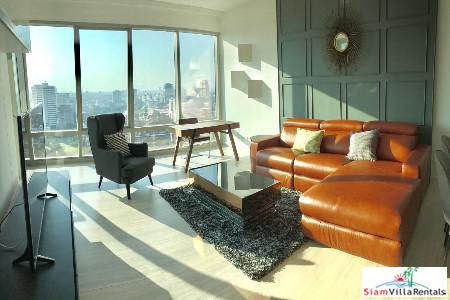 Bright and Modern Two Bedroom with Unblocked City Views in Lumphini, Bangkok