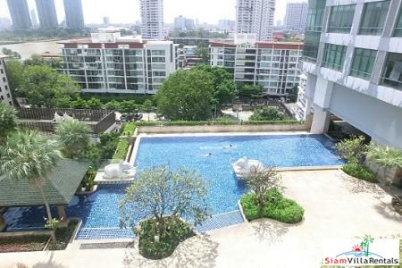 River Views from Every Room of this One Bedroom in Krung Thonburi, Bangkok