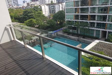 Pool Views from this Deluxe Three Bedroom Condo in Phra Khanong