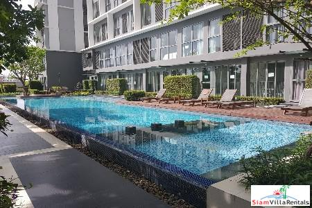 Two Bedroom Loft Duplex with Private Pool Views for Rent in Bangchak, Bangkok