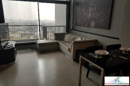 One Bedroom Loft-style Duplex with City Views in Phra Khanong, Bangkok