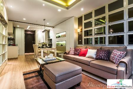 Fantastic City Views from this Contemporary Two Bedroom in Phra Khanong, Bangkok