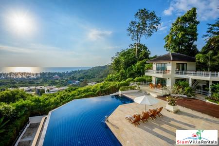Panoramic Ocean and Lush Mountain Views from this Three Bedroom in Nai Thon, Phuket