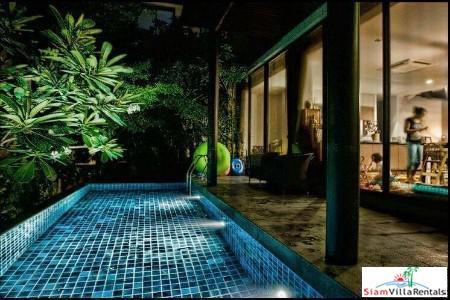 Elegant and Modern Four Storey House with Private Pool for Rent in Ekkamai, Bangkok