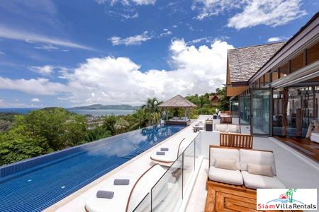Breathtaking Views from this Private Holiday Pool Villa Overlooking Surin, Phuket