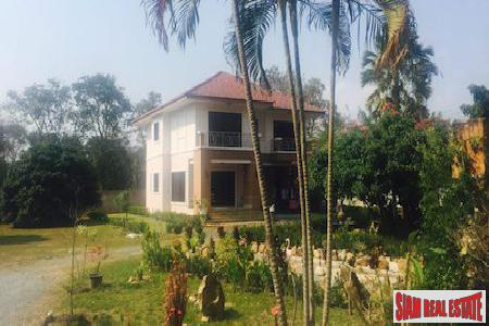 Three Bedroom House on a Large Lush Green Land Plot in Pa Daet, Chiang Mai