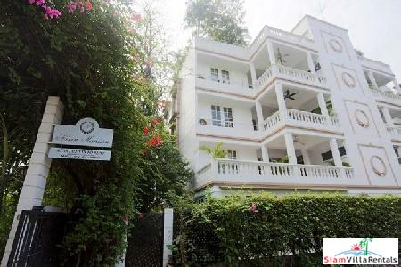 Unfurnished Penthouse Duplex at Navin Mansion Boutique Apartment Block of only 8 Units in Tropical Grounds at Chong Nongsi - Pets Allowed