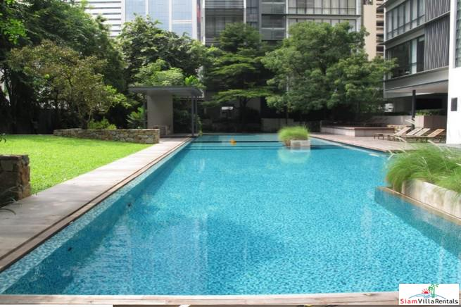 Enjoy Garden and Swimming Pool Views from this Modern Three Bedroom on Sukhumvit 18