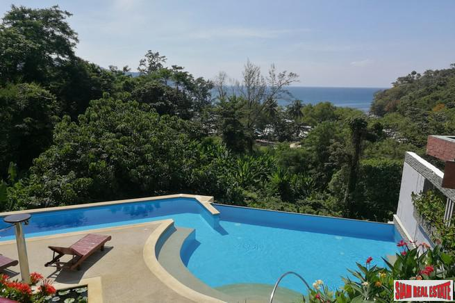 Unique One Bedroom Sea View Corner Unit for Sale, Walking distance to Kata Beach