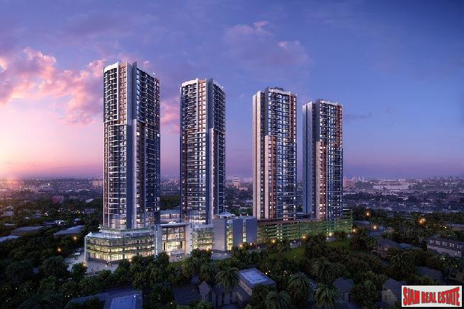 Two Bed Condos in Mixed Used Development Project, New Smart Community at Ratchada, Huai Khwang