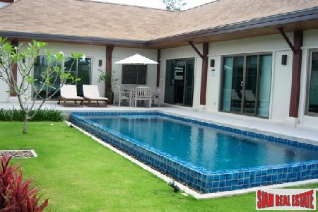 Excellent Value Three Bedroom Modern Pool Villa at for Sale at Nai Harn