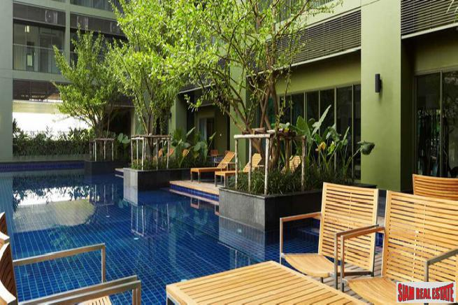 Sunny Two Bedroom Condo with Pool Views on Sukhumvit 55, Bangkok