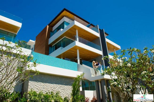 Exquisite Three Storey Home  for Rent with Sea, Bay and Mountain Views in Rawai