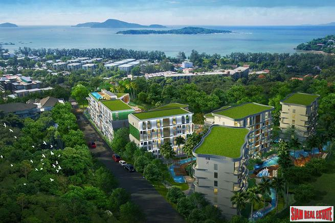 One Bedroom Condos with Sea Views in New Rawai Development