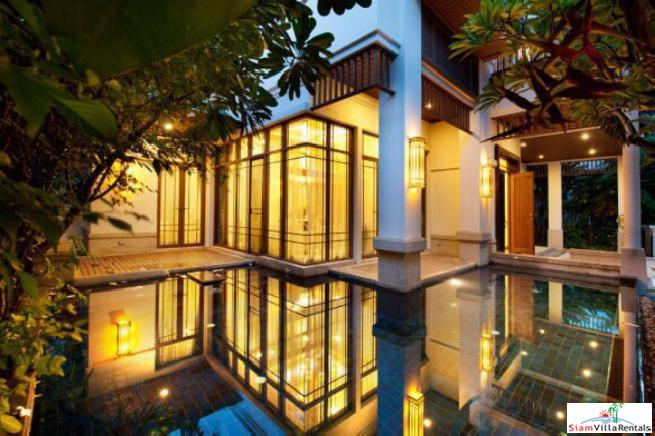 Exquisite Four Bedroom Family Home for Rent with Private Pool in Sathorn